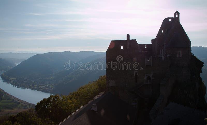 Ruínas de Aggstein, Áustria imagens de stock royalty free