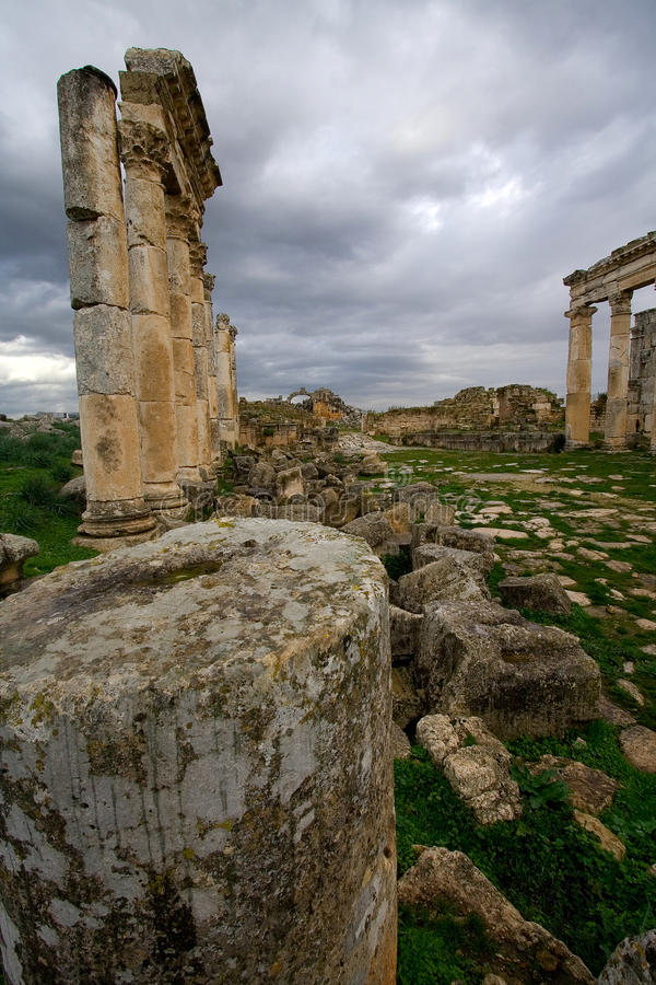 Ruínas de Apamea Syria fotos de stock