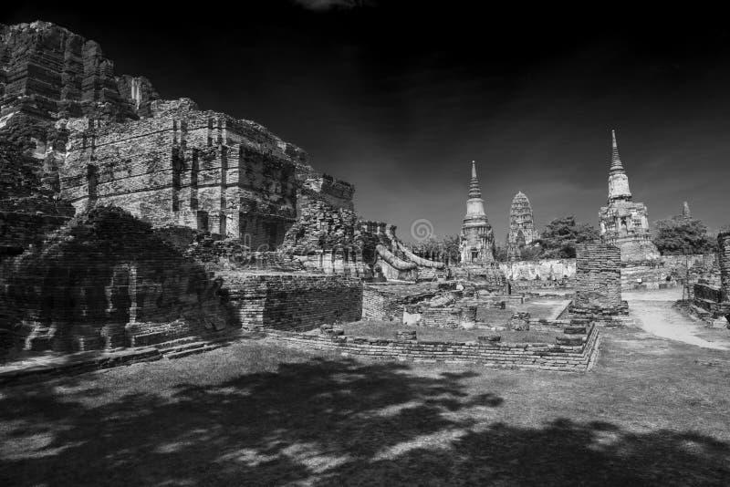 Ruínas de Ayutthaya fotografia de stock