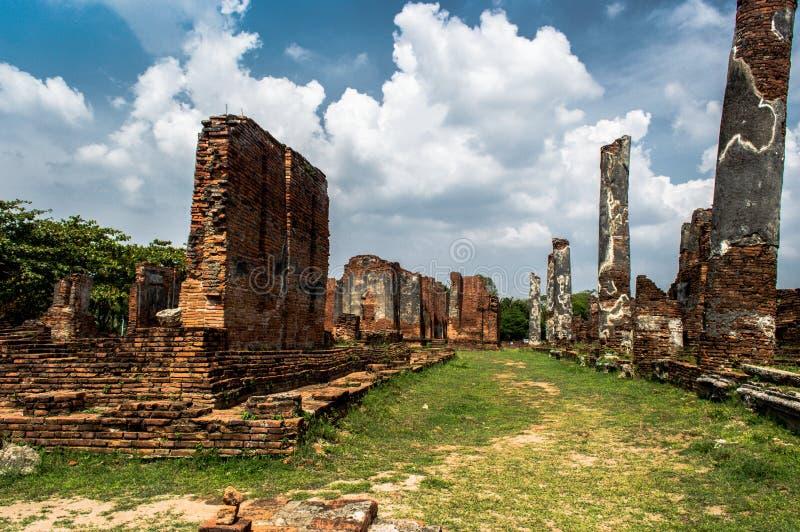 Ruínas de Ayutthaya Tailândia imagens de stock royalty free