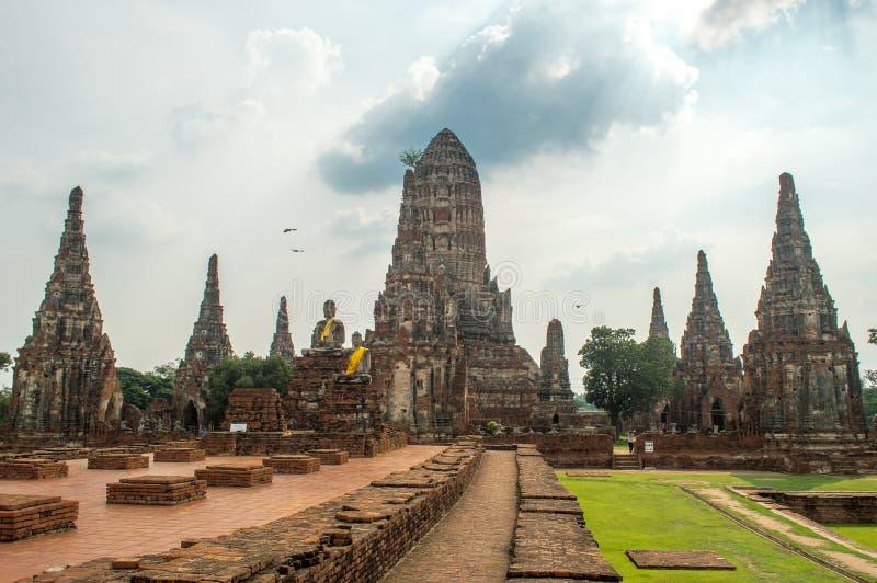 Ruínas de Ayutthaya Tailândia foto de stock
