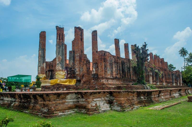 Ruínas de Ayutthaya Tailândia fotos de stock royalty free