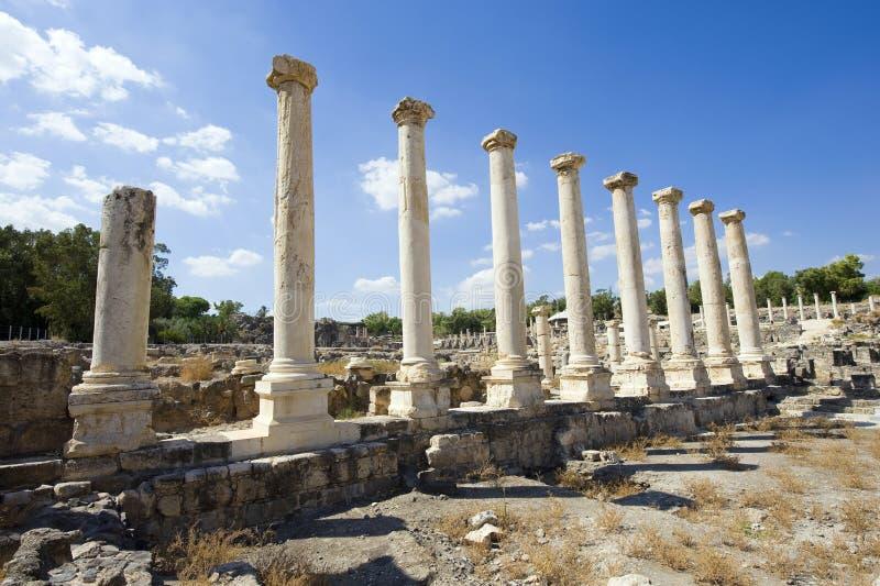 Ruínas de Beit She ' fotos de stock