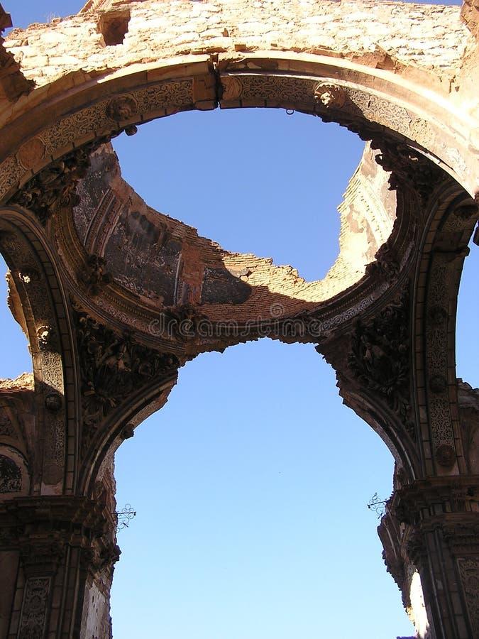 Ruínas de Belchite imagem de stock royalty free