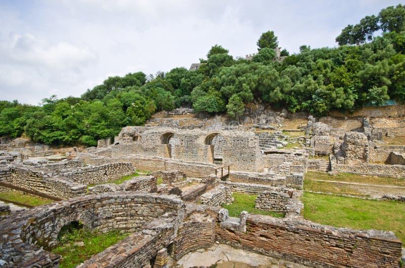 Ruínas de Butrint, Albânia imagem de stock royalty free