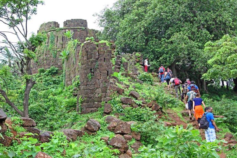 Ruínas de Cabo de Rama Fort fotografia de stock