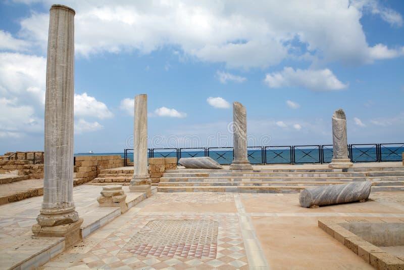 Ruínas de Caesarea imagens de stock