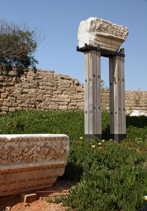 Ruínas de Caesarea Maritima. Israel imagens de stock