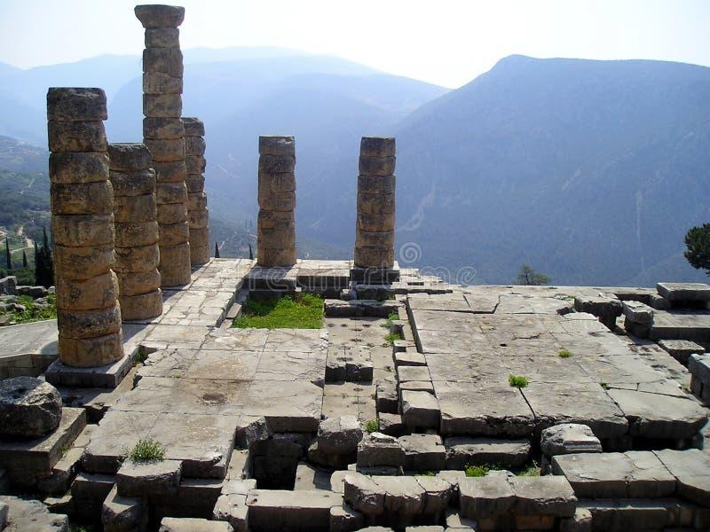 Ruínas de Delphi imagem de stock
