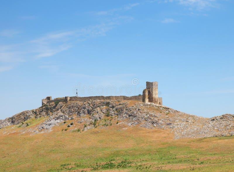 Ruínas de Enisala - fortaleza medieval em Dobrogea, Romênia imagens de stock royalty free