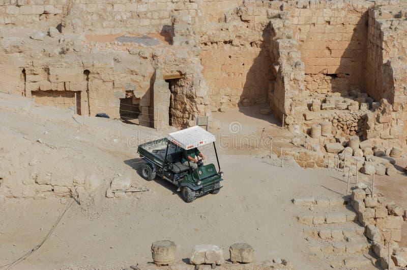 Ruínas de Herodium ou de Herodion, a fortaleza de Herod, a grande, Israel foto de stock royalty free