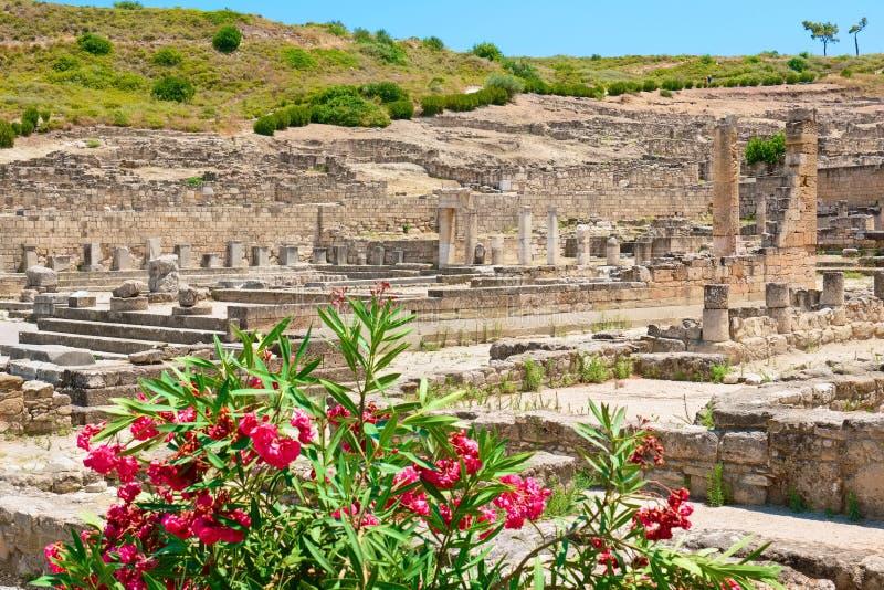 Ruínas de Kamiros O Rodes, Grécia foto de stock royalty free
