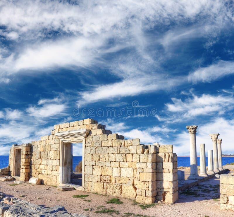 Ruínas de Khersones imagens de stock