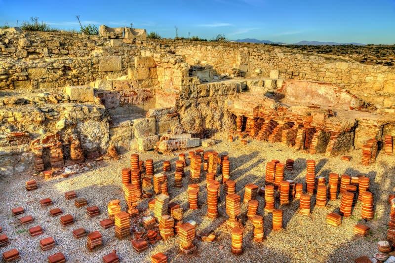 Ruínas de Kourion em Chipre fotografia de stock