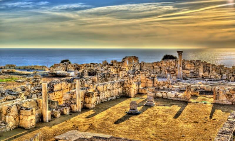 Ruínas de Kourion, uma cidade do grego clássico imagem de stock royalty free