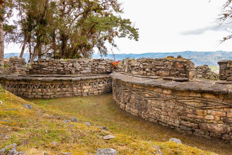 Ruínas de Kuelap na região de amazon de Peru fotografia de stock