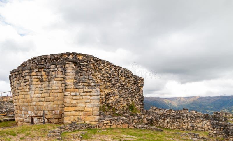 Ruínas de Kuelap na região de amazon de Peru fotografia de stock royalty free