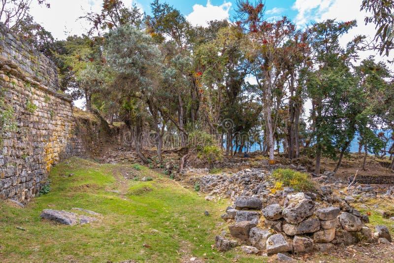 Ruínas de Kuelap na região peru dos chachapoyas imagem de stock royalty free
