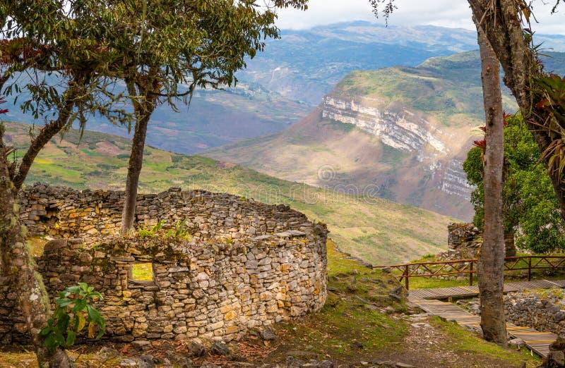 Ruínas de Kuelap na região peru dos chachapoyas foto de stock royalty free
