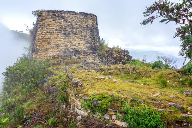 Ruínas de Kuelap, Peru imagens de stock