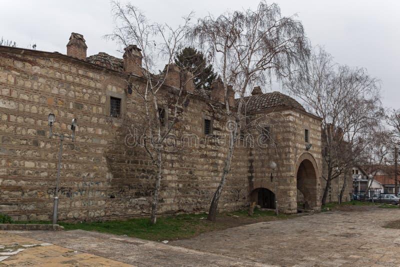 Ruínas de Kurshumli na cidade velha da cidade de Skopje, a República da Macedônia imagens de stock royalty free