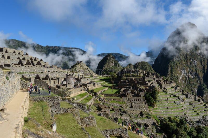Ruínas de Machu Picchu em Sunny Day brilhante fotos de stock