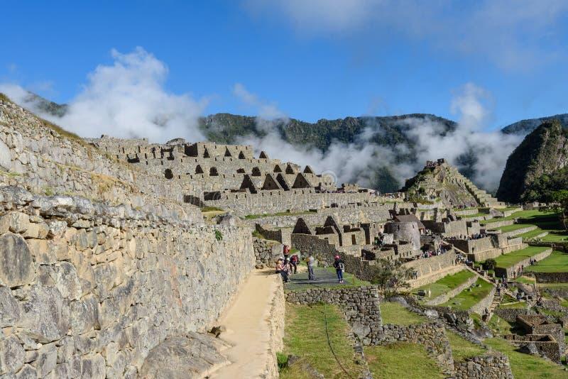 Ruínas de Machu Picchu em Sunny Day brilhante fotografia de stock royalty free