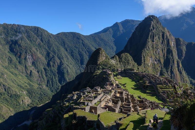 Ruínas de Machu Picchu em Sunny Day brilhante imagens de stock