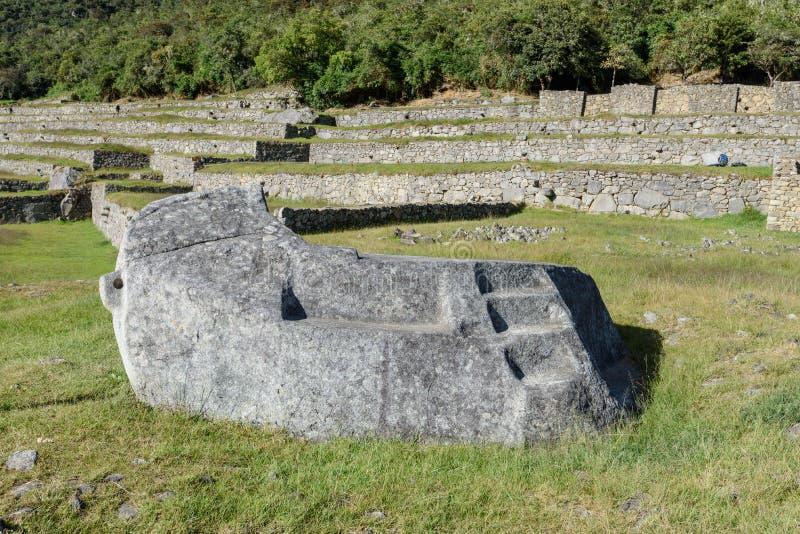 Ruínas de Machu Picchu em Sunny Day brilhante imagem de stock royalty free