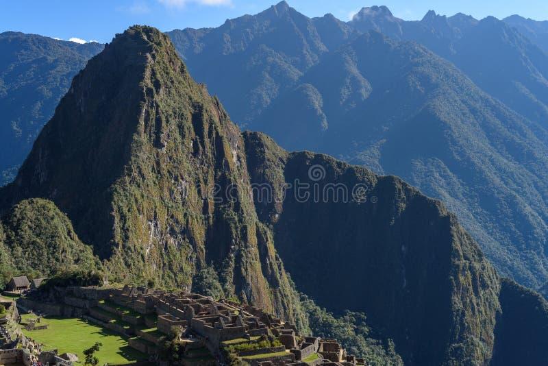 Ruínas de Machu Picchu em Sunny Day brilhante fotos de stock royalty free