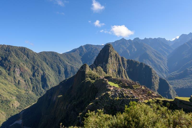 Ruínas de Machu Picchu em Sunny Day brilhante foto de stock