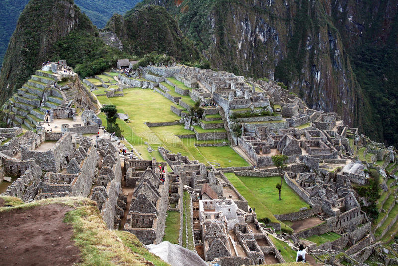 Ruínas de Machu Pichu fotografia de stock