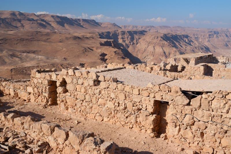 Ruínas de Masada foto de stock royalty free