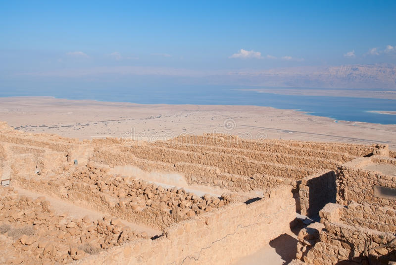 Ruínas de Masada fotografia de stock