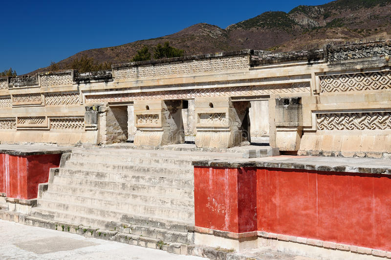 Ruínas de Mitla em México fotografia de stock royalty free