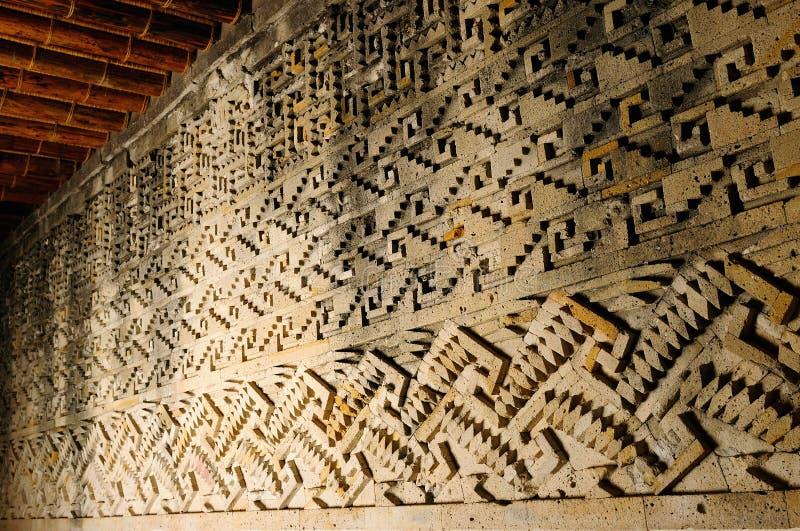 Ruínas de Mitla em México imagem de stock royalty free