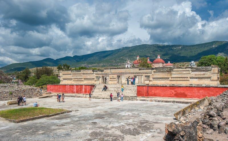Ruínas de Mitla, Oaxaca, México imagens de stock royalty free