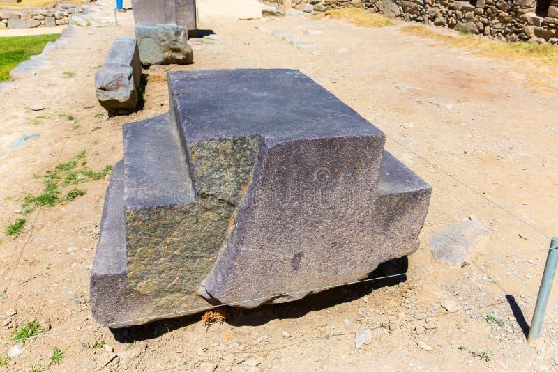Ruínas de Ollantaytambo, de Peru, de Inca e local arqueológico em Urubamba, Ámérica do Sul. foto de stock