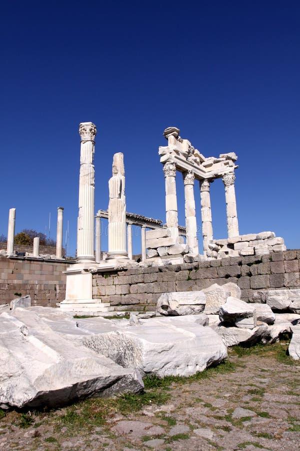 Ruínas de Pergamon imagens de stock