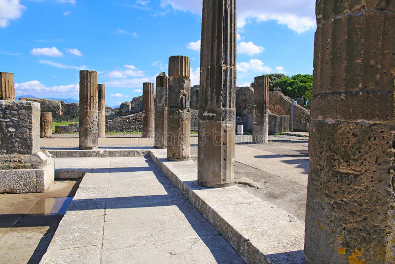 Ruínas de Pompeii antigo fotografia de stock