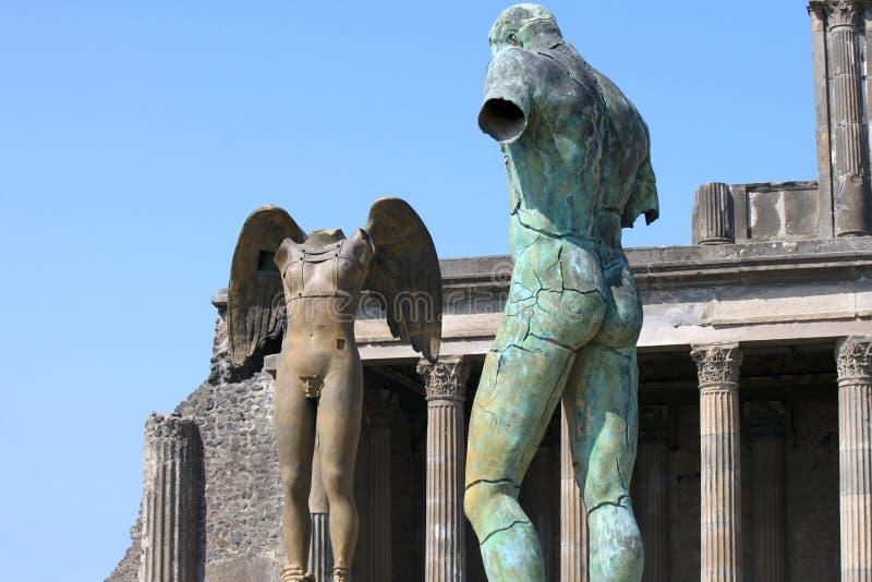 Ruínas de Pompeii A cidade romana antiga em Itália morreu da erupção do Vesúvio foto de stock