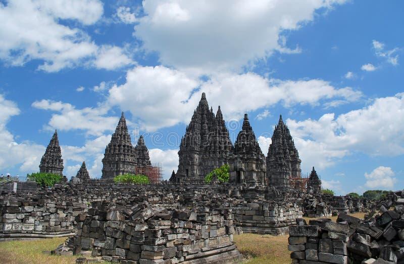 Ruínas de Prambanan Candi fotografia de stock