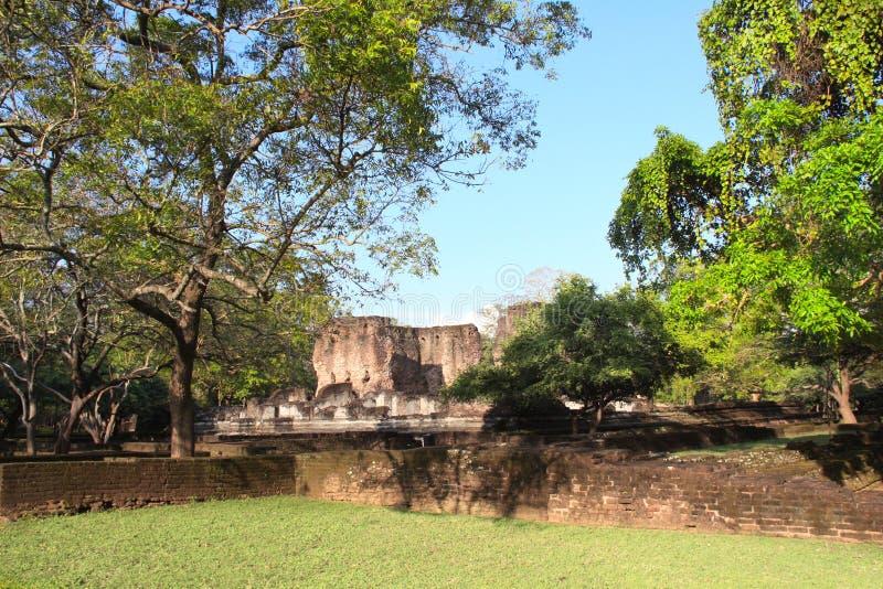Ruínas de Royal Palace, Polonnaruwa, Sri Lanka fotos de stock