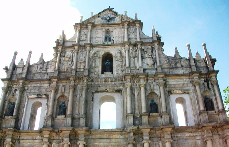Ruínas de Saint Paul Catholic Church imagens de stock royalty free