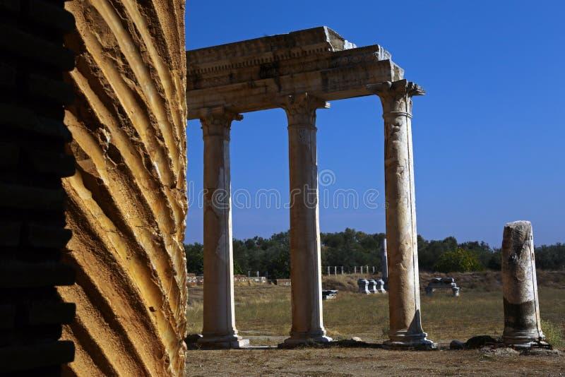 Ruínas de Sardis em Manisa Turquia imagem de stock