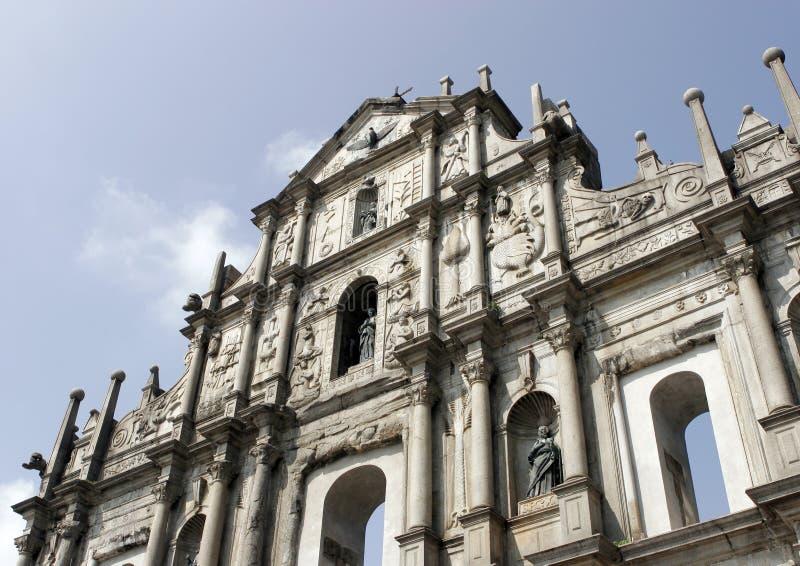 Ruínas de St. Paul em Macau foto de stock royalty free