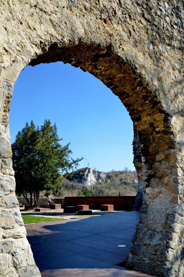 Ruínas de Tettye - Pécs, Hungria imagens de stock royalty free