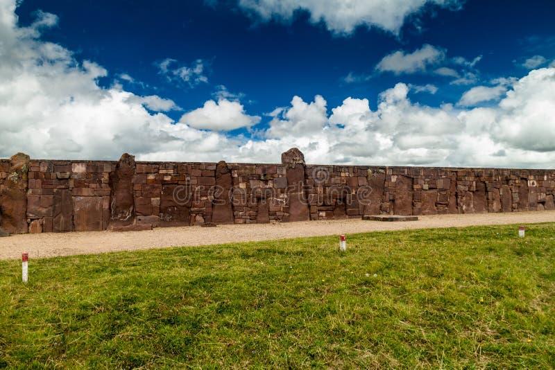 Ruínas de Tiwanaku, Bolívia imagens de stock