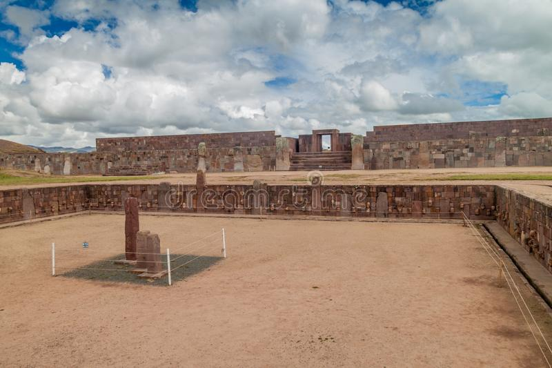 Ruínas de Tiwanaku, Bolívia fotos de stock royalty free