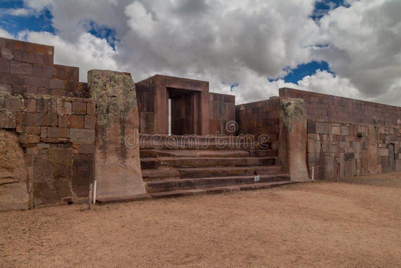 Ruínas de Tiwanaku, Bolívia imagens de stock royalty free